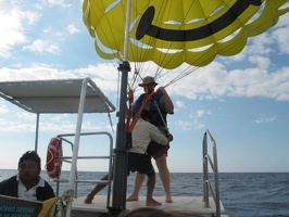 Mark preparing to Parasail