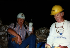 Mark and Bill Grotefend in lava tube