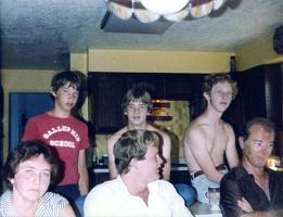 Summer, 1982, Jeannette, Chris, Eric, ???, Scott, and Mark