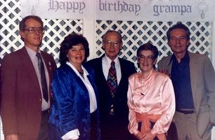 Mark, Patsy, Grampa, Mary Beth, and Dick.