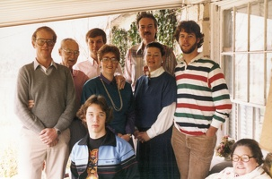 Mark, Grandpa, Chris, Bailey's ex, Liz, Richard, Bailey, Bill, and Margo