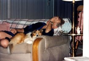 Mark and Punkin napping