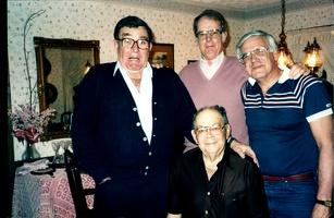 Dad with old high school buddies.