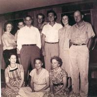 Betty Ann, Patsy T.C. Mark, Dick, Mary Beth, Jasper George, Hazel, Beck George, Pete (Bernice) Wren (typed just as written on ph