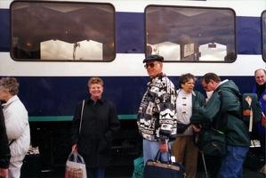 Getting on train to Denali