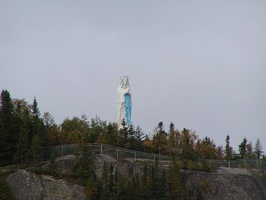 F. Saguenay Fjord-Statue of Virgin Mary 111