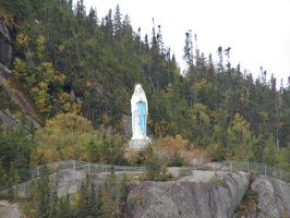 F. Saguenay Fjord-Statue of Virgin Mary 112