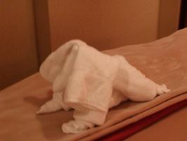 Towel Animals in room  053