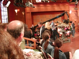 Regis & Kelly show   Gus in foreground.
