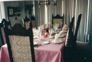 Linda house formal dinner