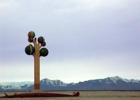 Sculpture at Bonneville Salt Flats, Utah